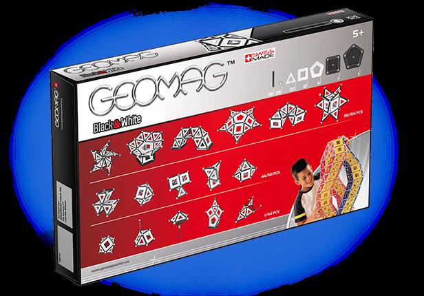 Geomag Black & White 104 piese 1