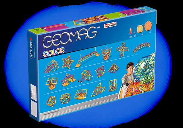 Geomag Color 127 piese - Galben, Portocaliu, Rosu si Mov 2
