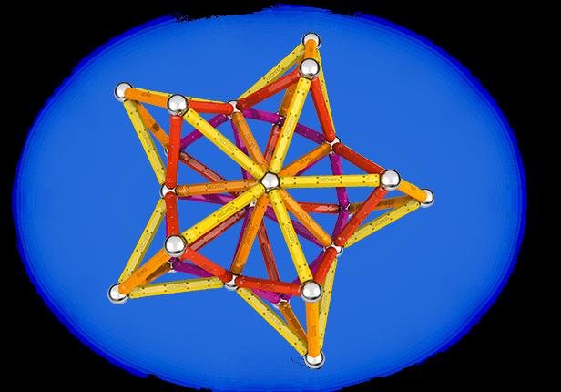 Geomag Color 127 piese - Galben, Portocaliu, Rosu si Mov 3