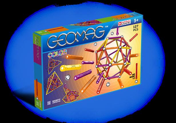 Geomag Color 127 piese - Galben, Portocaliu, Rosu si Mov 0