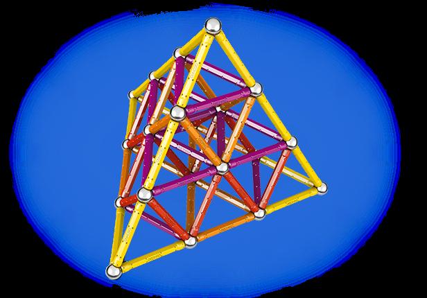 Geomag Color 127 piese - Galben, Portocaliu, Rosu si Mov 4