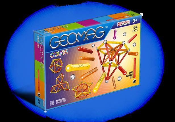 Geomag Color 64 piese - Rosu si Portocaliu 0