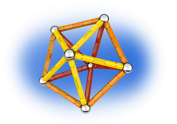 Geomag Color 64 piese - Rosu si Portocaliu 3