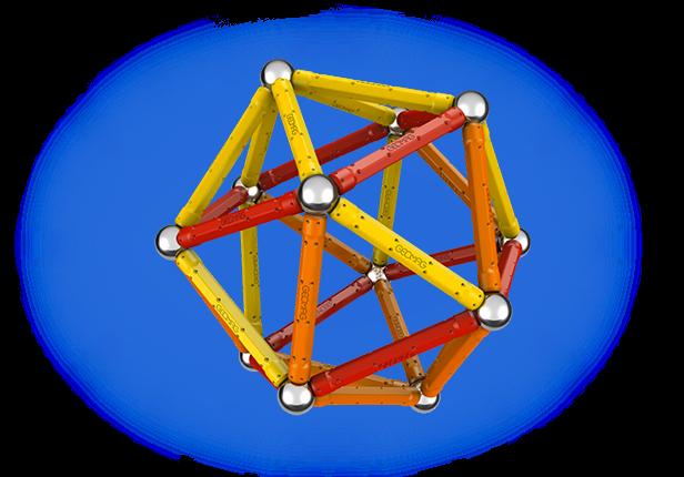 Geomag Color 64 piese - Rosu si Portocaliu 1