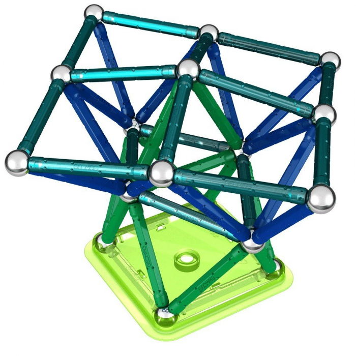 Geomag Color 86 piese - Albastru si Verde 1