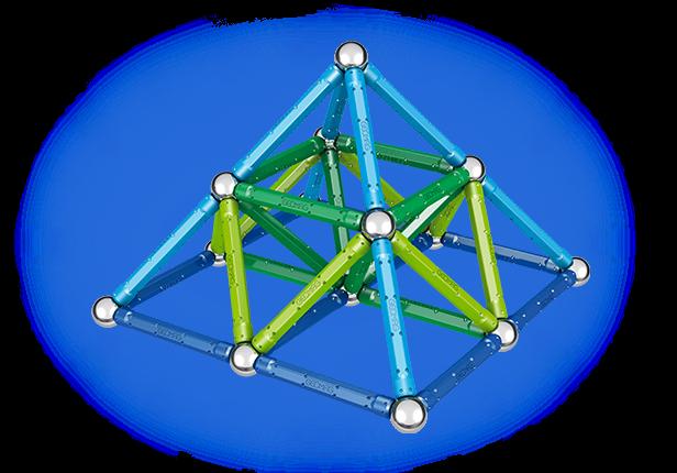 Geomag Color 91 piese - Albastru si Verde 4
