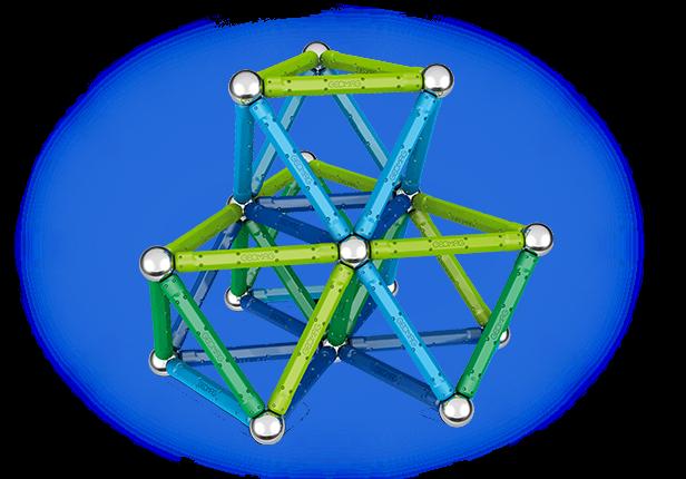 Geomag Color 91 piese - Albastru si Verde 1