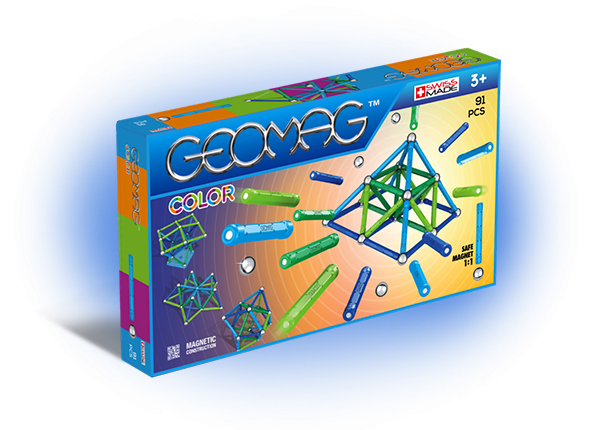 Geomag Color 91 piese - Albastru si Verde 0