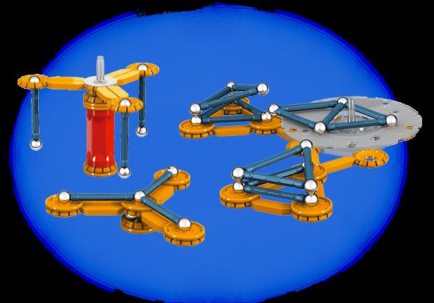 Geomag Mechanics 86 piese - Parcul de distractie [2]