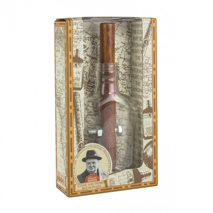 Great Minds - Churchill's Cigar and Whisky Bottle 0
