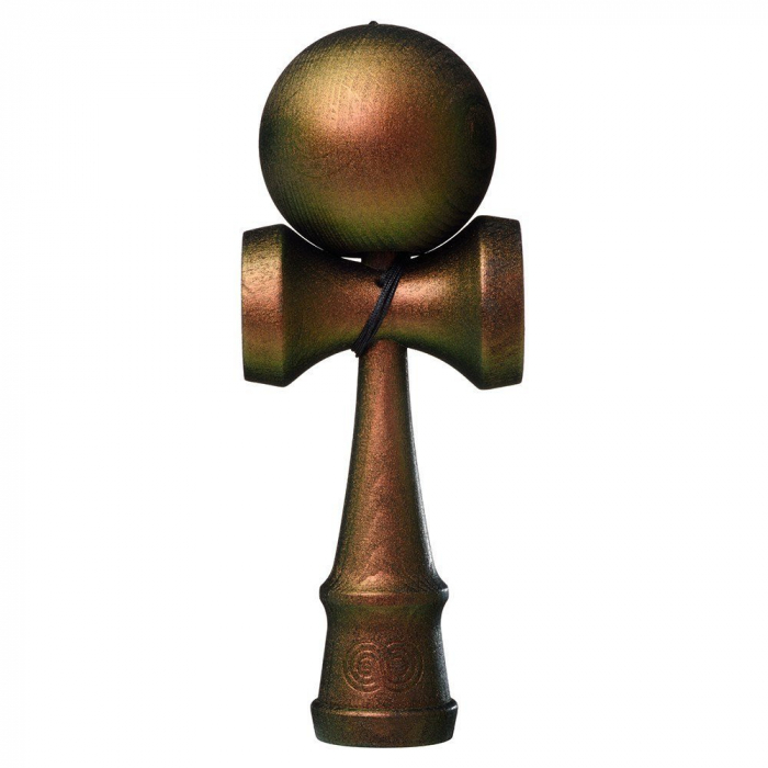 Kendama USA Custom Kaizen - The Cook - Green and Copper 0