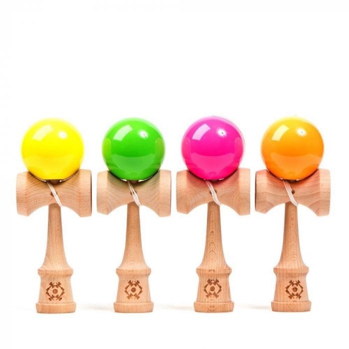 Kendama USA Tribute - Neon Portocaliu 1