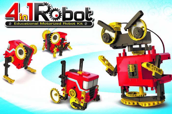 Kit constructie - Robot Motorizat 4 in 1 [1]