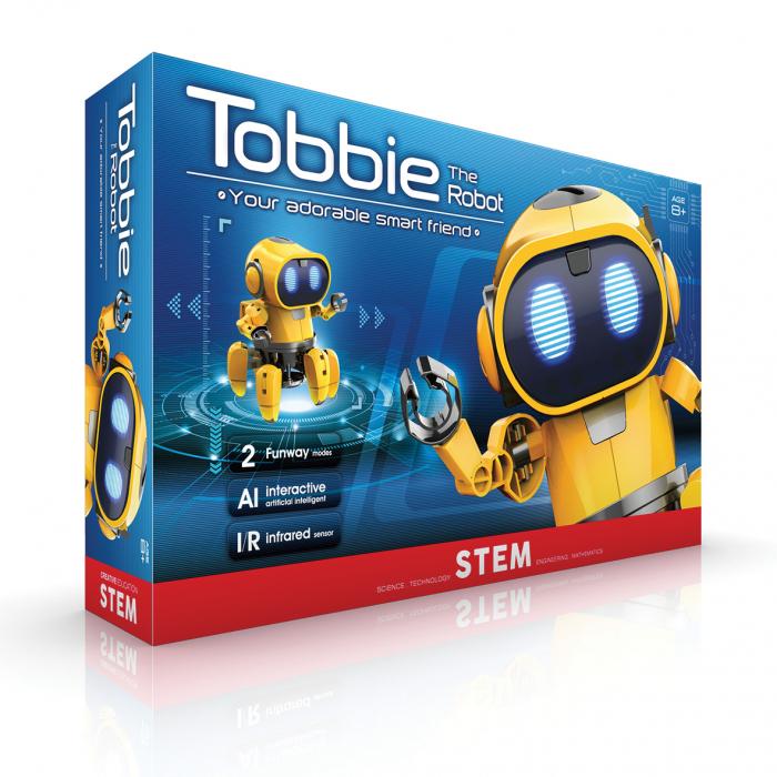 Kit robotica de constructie Robot Tobbie cu inteligenta artificiala (RO) [5]