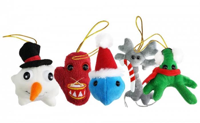 Pachet cu 5 mini-microbi varianta Ornamente de Craciun