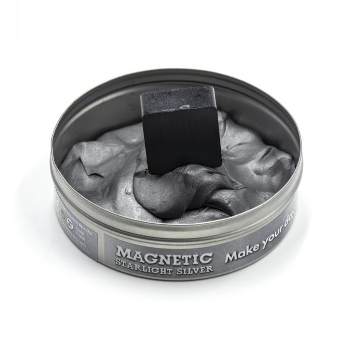 Plastilina Inteligenta Magnetica - Argintie 2