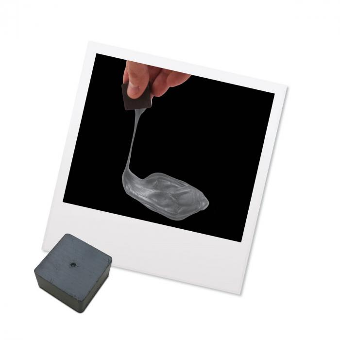 Plastilina Inteligenta Magnetica - Argintie 3