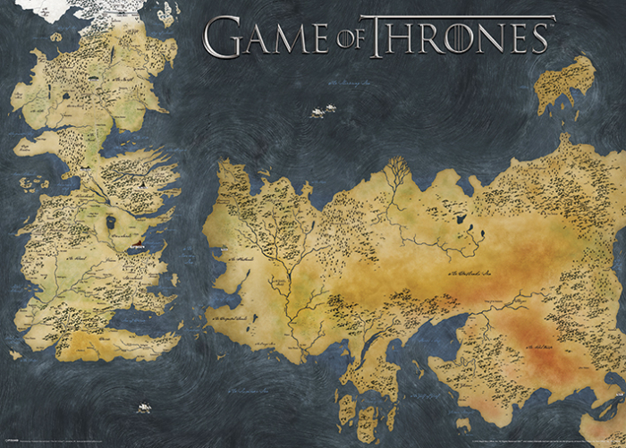 Poster Game of Thrones - Harta Westeros [0]