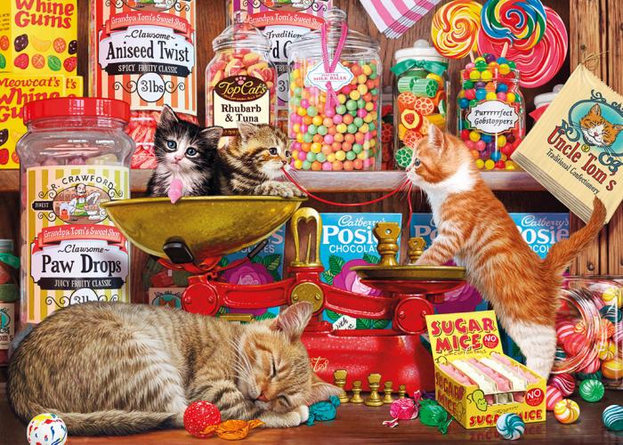 Puzzle 500 piese - Rasfaturi dulci pentru pisici 1