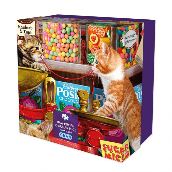 Puzzle 500 piese - Rasfaturi dulci pentru pisici 0