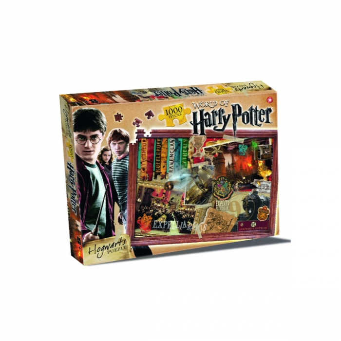 Puzzle Harry Potter 1000 piese - Hogwarts 0