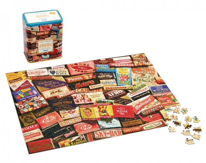 Puzzle in cutie metal 500 piese - Dulciurile anilor 1950 1