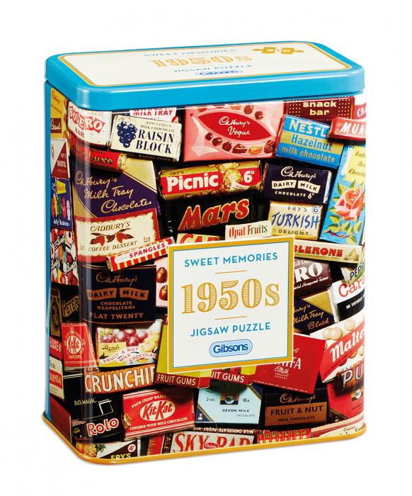 Puzzle in cutie metal 500 piese - Dulciurile anilor 1950 0