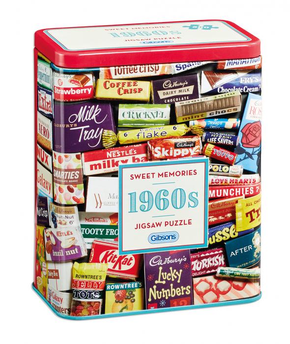Puzzle in cutie metal 500 piese - Dulciurile anilor 1960