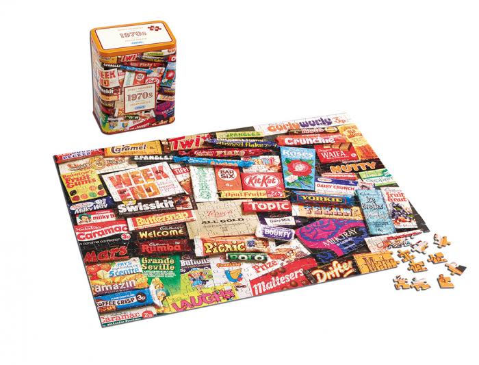 Puzzle in cutie metal 500 piese - Dulciurile anilor 1970 1