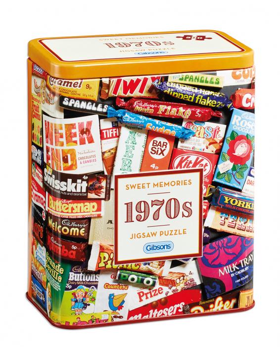 Puzzle in cutie metal 500 piese - Dulciurile anilor 1970 0