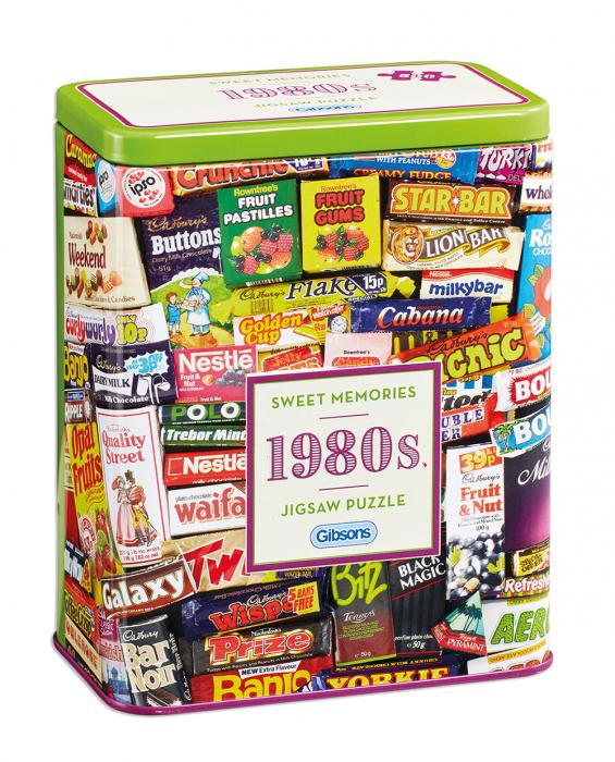 Puzzle in cutie metal 500 piese - Dulciurile anilor 1980