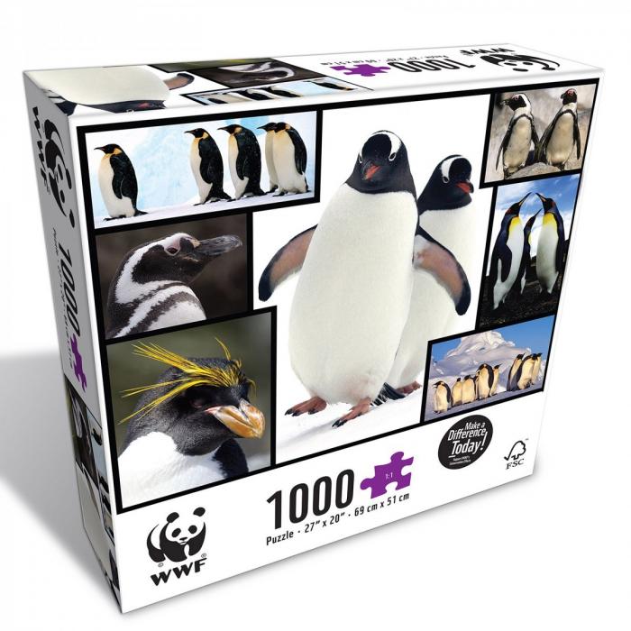 Puzzle WWF 1000 piese - Pinguini 0