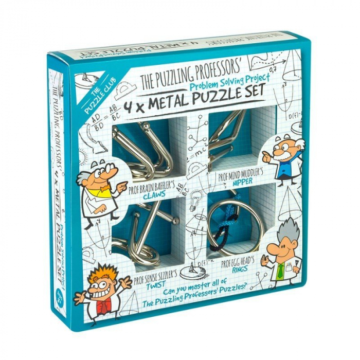 Puzzling Professors 4 x Metal Set 0
