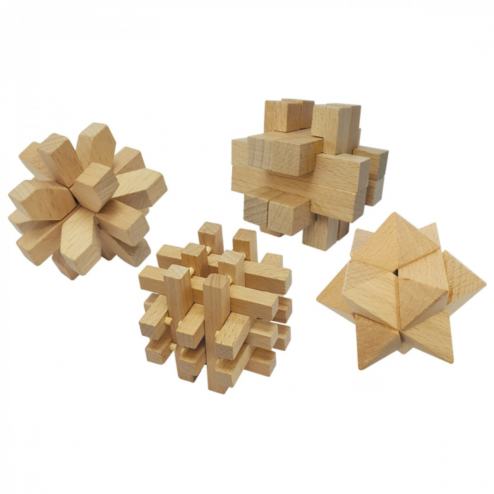 Set 4 jocuri perspicacitate lemn 1