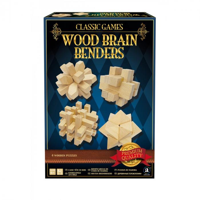 Set 4 jocuri perspicacitate lemn 0