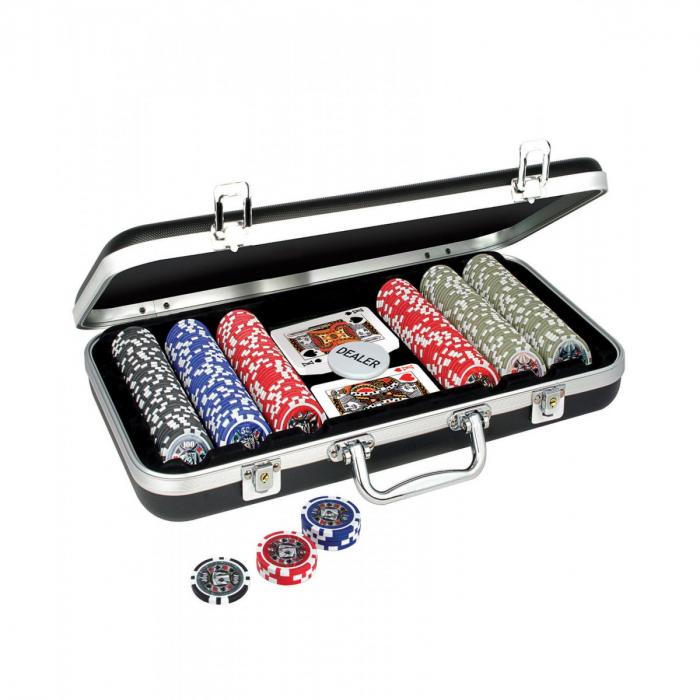 Set Poker cu 300 jetoane inscriptionate 0