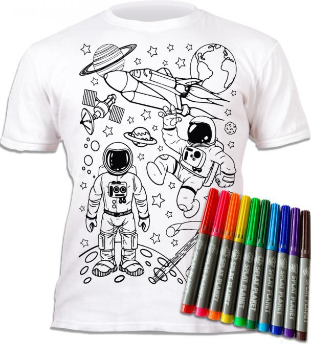 Tricou de colorat cu markere lavabile Cosmos 1