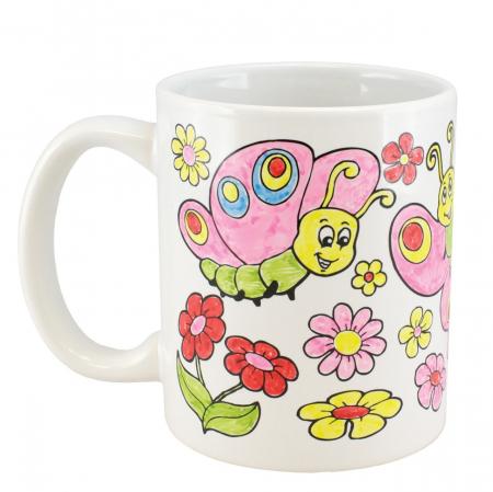Cana de colorat - Flori1