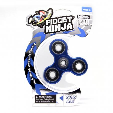Fidget Ninja Metal Spinner - Albastru5