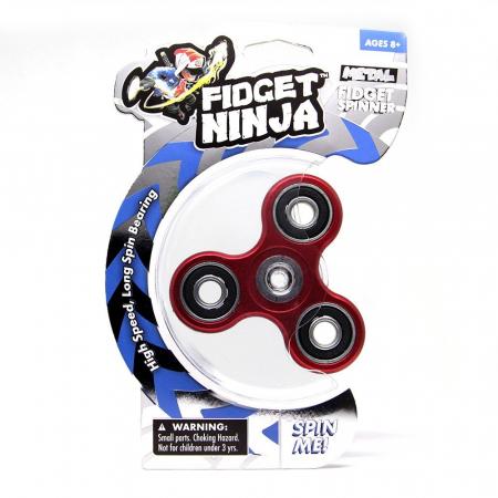 Fidget Ninja Metal Spinner - Rosu [2]