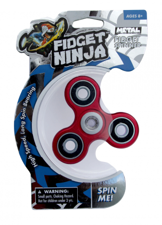Fidget Ninja Metal Spinner - Rosu [0]