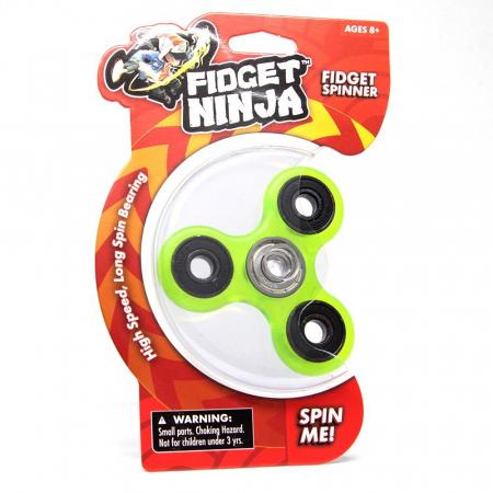 Fidget Ninja Spinner - Verde0