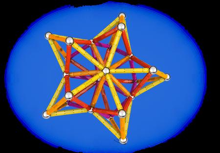 Geomag Color 127 piese - Galben, Portocaliu, Rosu si Mov3