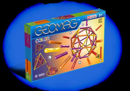 Geomag Color 127 piese - Galben, Portocaliu, Rosu si Mov0