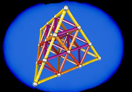 Geomag Color 127 piese - Galben, Portocaliu, Rosu si Mov4