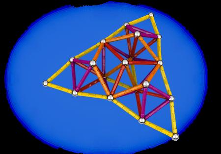 Geomag Color 127 piese - Galben, Portocaliu, Rosu si Mov1
