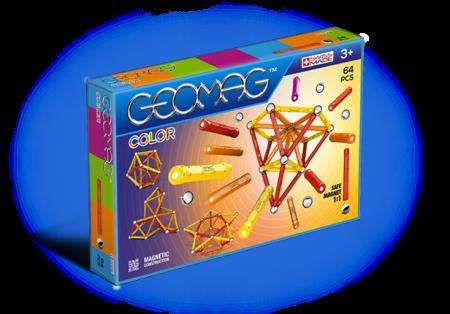 Geomag Color 64 piese - Rosu si Portocaliu0