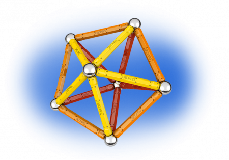 Geomag Color 64 piese - Rosu si Portocaliu3