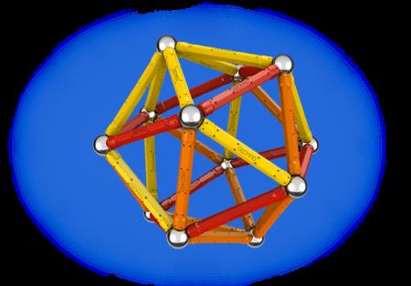 Geomag Color 64 piese - Rosu si Portocaliu1