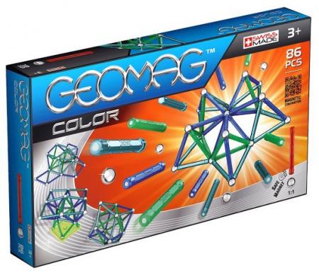 Geomag Color 86 piese - Albastru si Verde0